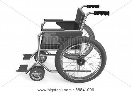 Black Empty Wheelchair, View Seat