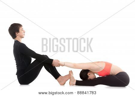 Yoga Practice With Partner