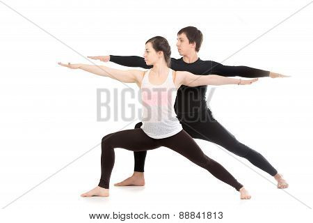Yoga With Partner, Virabhadrasana 2