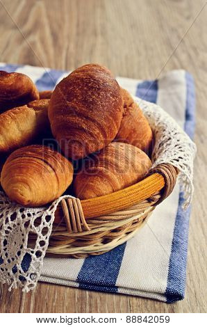 Croissants In A Basket