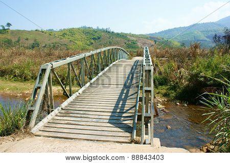 Bridge Cross Stream, Vietnamese Countryside