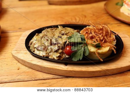 Pork Chops Baked With Onions