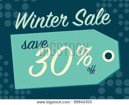 Winter Sale Sign
