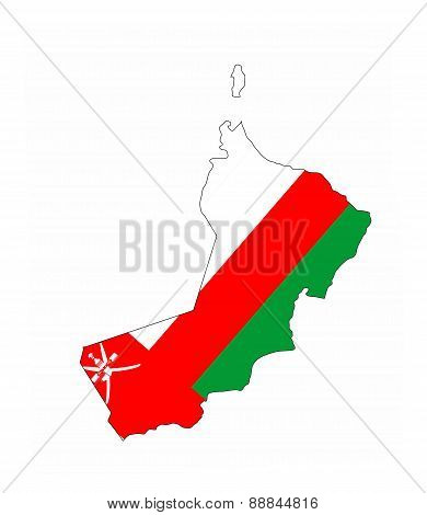 Oman Flag Map