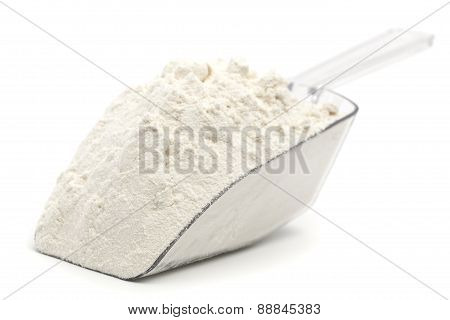Flour On Plastic Baker Spoon