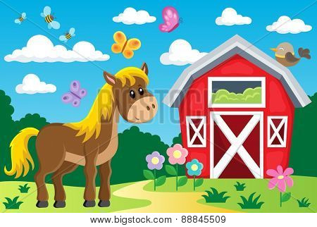 Farm topic image - eps10 vector illustration.