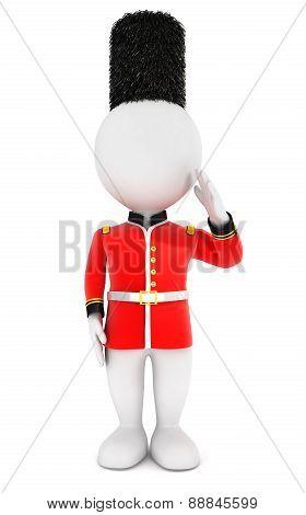 3d white people royal guard