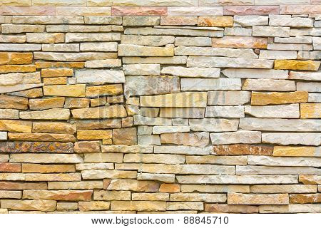 Untidy Or Uneven Brick Wall, Texture Background