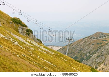 Ski Chair Lift In Tatra Mountains