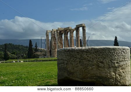 View Toward Olympian Zeus Temple