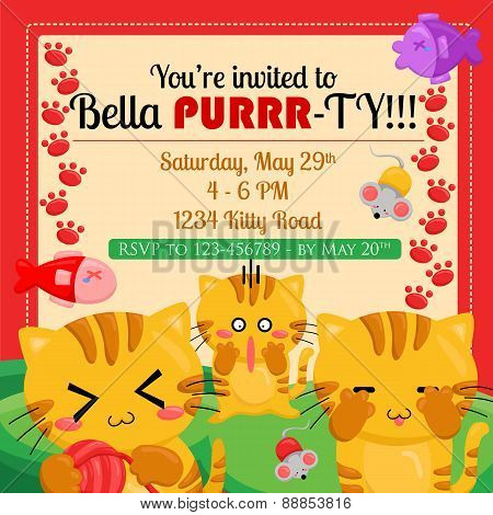 Cats Invitation