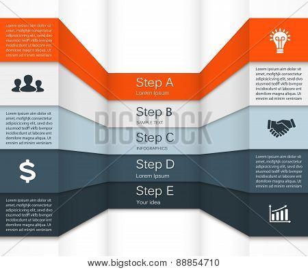 Vector infographic. Template for diagram, graph, presentation and chart. Business concept with 5 opt