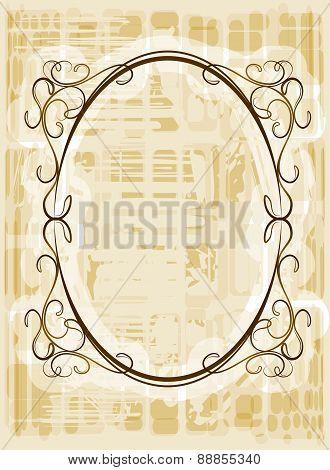 Elegant Oval Frame. Vector.