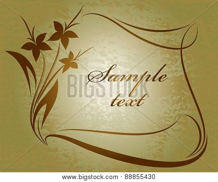 Flower Background. Vector