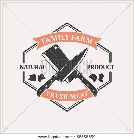 Butcher Shop Label Template