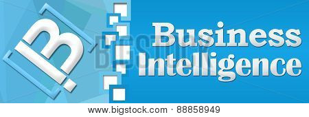 BI - Business Intelligence Blue Square Separator