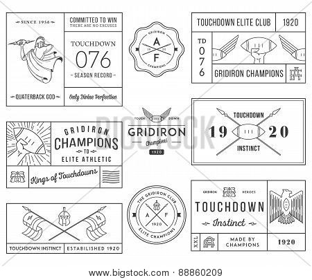 American Football Badges And Crests Vol 1