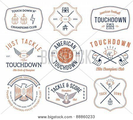 American Football Badges And Crests Vol 2 Colored