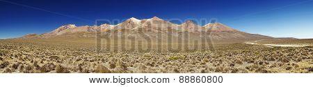 Panorama Of Active Volcano Pikchu Pikchu, Arequipa, Peru