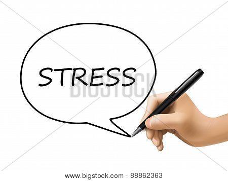 Stress Word In Speech Bubble