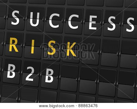 Success Risk B2B Words On Airport Board