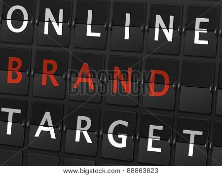 Online Brand Target Words On Airport Board