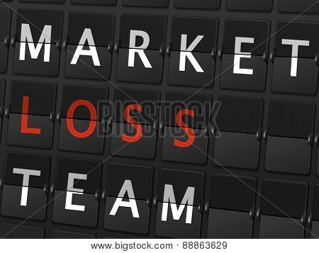 Market Loss Team Words On Airport Board