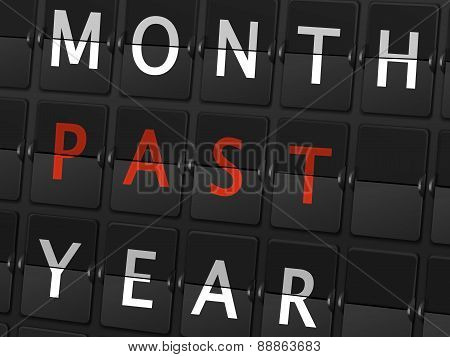 Month Past Year Words On Airport Board