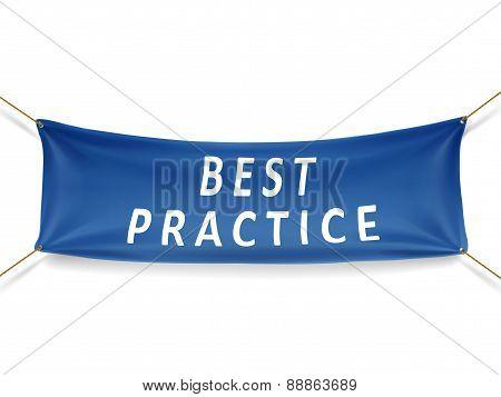 Best Practice Blue Banner