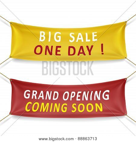 Big Sale And Grand Opening Banners