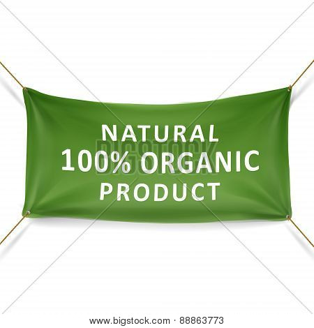 Natural 100 Percent Organic Product Banner