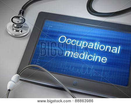 Occupational Medicine Words Displayed On Tablet