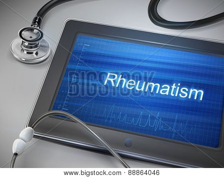 Rheumatism Word Displayed On Tablet