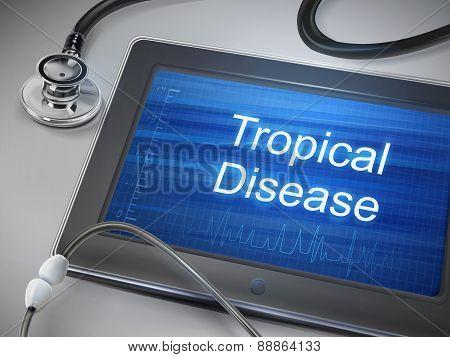 Tropical Disease Words Displayed On Tablet