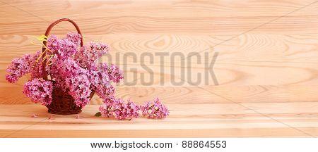 Purple Lilac Bouquet .