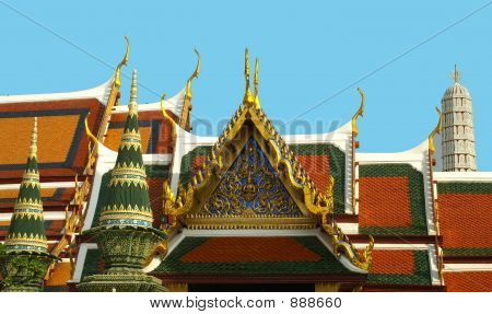 Royal Palace Roofline Bangkok,Thailand