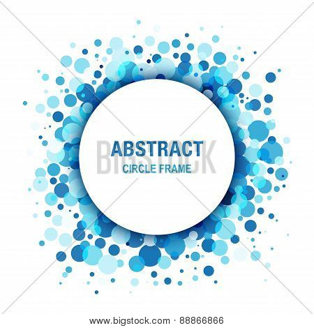 Blue Light Abstract Circle Frame Design Element