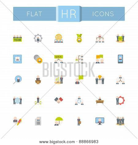Vector Flat HR Icons