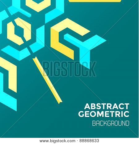 Blue Yellow Green Abstract Geometric Background