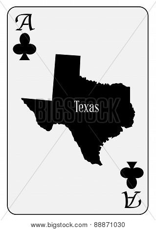 Usa Playing Card Ace Clubs