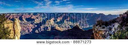 Ultra High Resolution Panoramic View Of The Magnificent Grand Canyon In Arizona