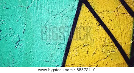 Colorful Paint Background - Toned Effect. Graffiti Closeup.