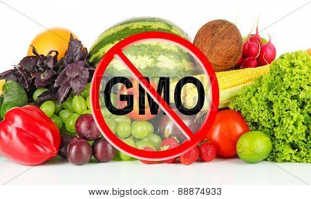 Fresh vegetables and fruits without gmo