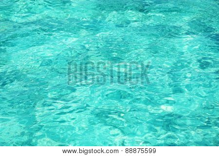 Beautiful view of ocean water on island in resort