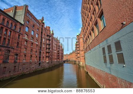old town of Hamburg Germany