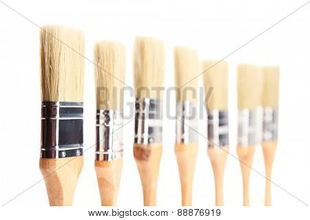 Paint brushes, isolated on white