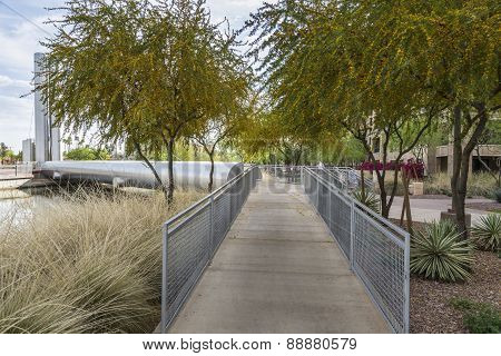 Soleri Bridge At Scottsdale Arizona
