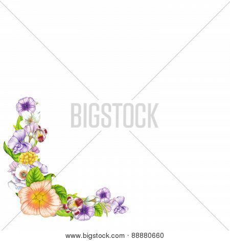 Banner of beautiful wildflowers