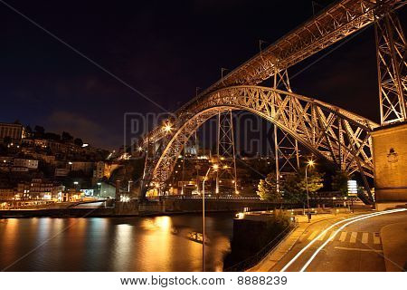 Dom Luis Bridge At Night, Oporto