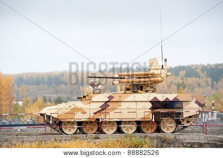 Tank Support Fighting Vehicle Terminator in motion